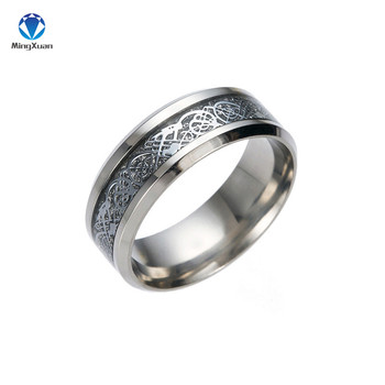Vintage Gold Free Shipping Dragon 316L stainless steel Ring Mens Jewelry for Men lord Wedding Band 3