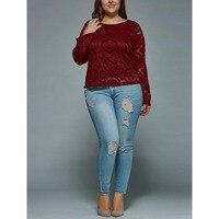 Charmma плюс Размеры 5xl Классическая талия Skinny Distressed Джинсы для женщин Для женщин пикантные рваные джинсовые штаны Femme облегающие брюки женские...