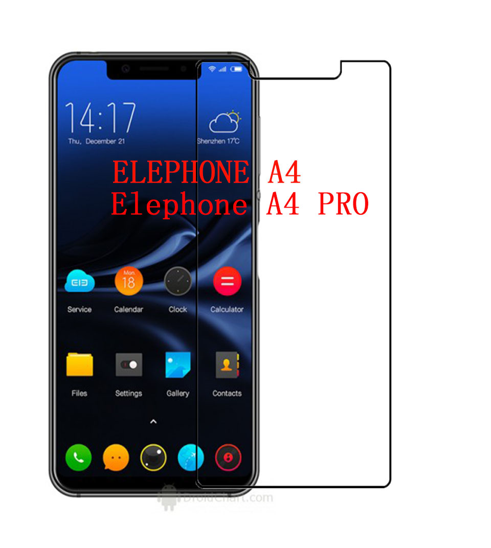 For Elephone A4 Tempered Glass 9H 2.5D Premium Screen Protector Film For Elephone A4 PRO