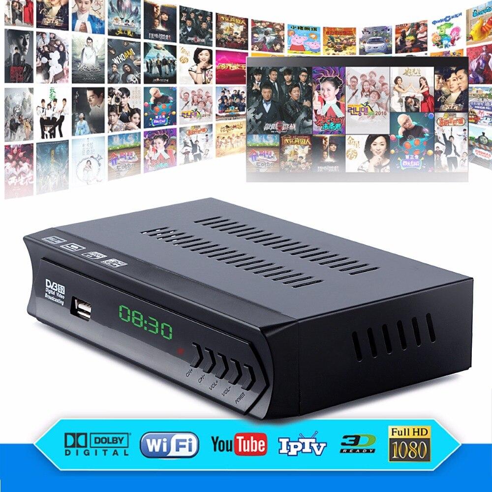 SOONHUA DVB-S2-M5 HD ТВ BOX Цифровой Декодер каналов кабельного телевидения ТВ и радио программ с LNB USB Порты и разъёмы HDMI Выход ЕС Plug