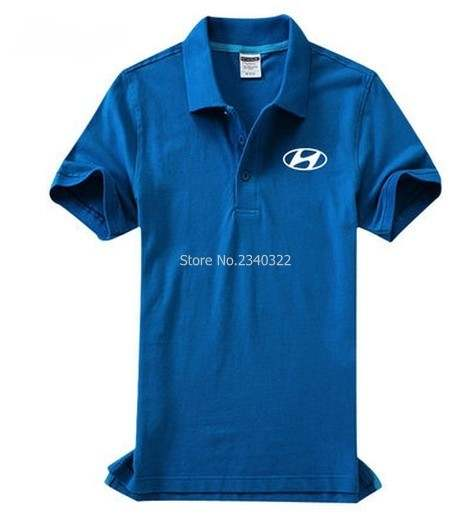 brand new 62532 48aa4 Summer automobile 4S shop Hyundai POLO shirt short-sleeved uniforms for men  and women clothing