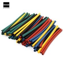 410 шт. 10 размеры multi Цвет Соотношение 2:1 80 мм Полиолефиновый Н-типа трубки термоусадочные трубки Обёрточная бумага комплект sleeving Обёрточная бумага Провода Наборы
