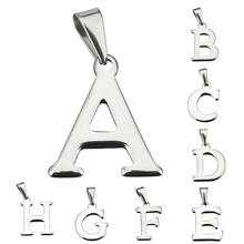 Fashion English Letter Pendant Alphabet Letters A-T Stainless Steel Best Friendship Lover Jewelry Gifts
