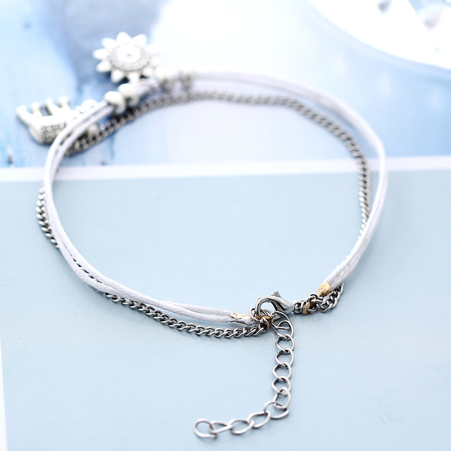 17KM Fashion Sun Elephant Anklet Set For Women Vintage Beach Foot jewelry Statement Anklets Boho Style Party Bohemian Jewelry 3