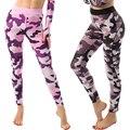 Compressão das mulheres Leggings Calças Lápis Slim Calças Compridas Casuais Camouflage Perturbador Padrão Slimming Leg S/M/L Q5141