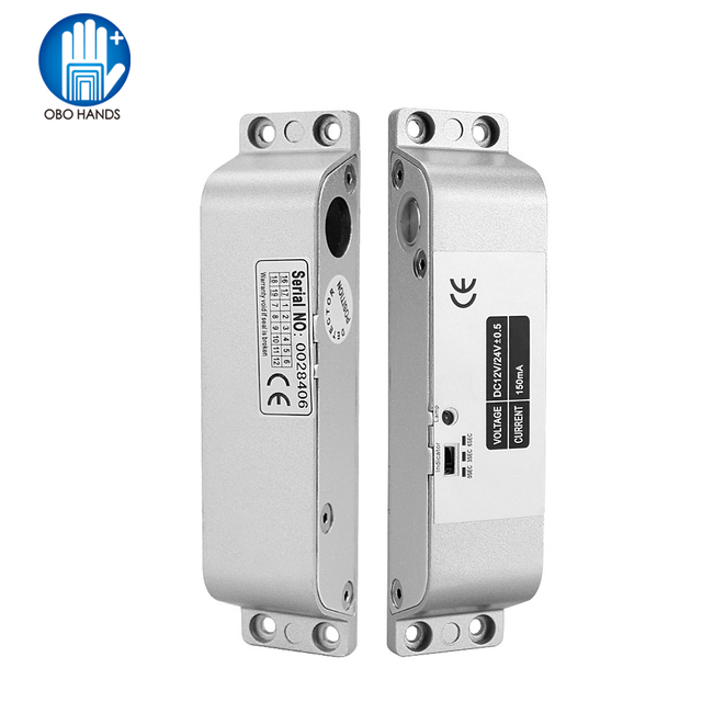 Fail Safe Electric Bolt Mortise Door Lock Electronic Drop Lock with time delay Normally Close for Access Control Security System