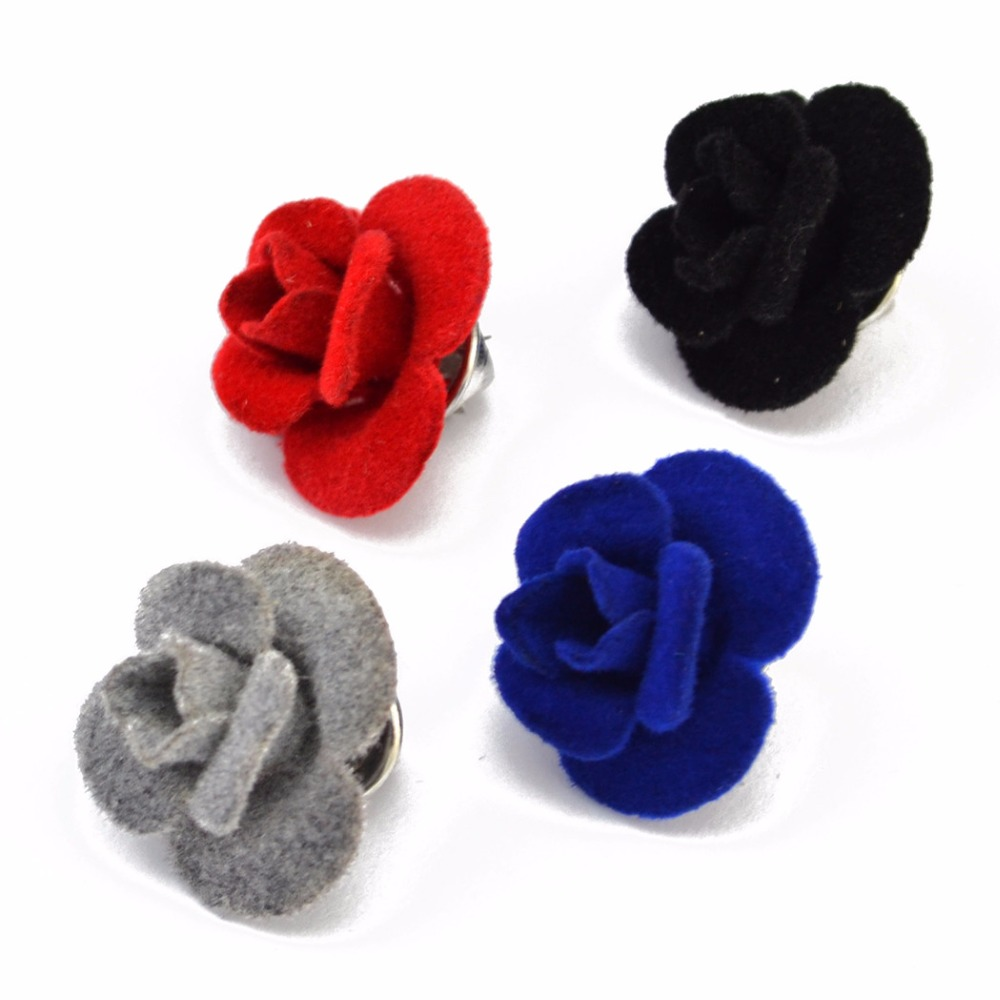 Romantic Rose Flower Brooches for Women Fashion Love Fabric Handmade Men Brooch Dress Clother Fashion Jewelry Wholesale