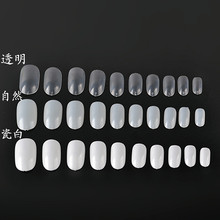 20 pcs / Bag of fake nails short stick round a piece of transparent painting a foreign trade Manicure explosion Z-28