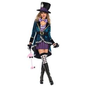 Image 1 - Disfraz de payaso de Alicia en el país de las maravillas para adultos, Halloween, Carnaval, vestido de magia