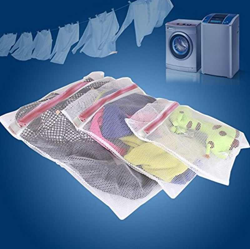 Clothes Washing Bag Laundry Bra Sheet Down Jackets Aid Lingerie Mesh Net Wash Bag Pouch Basket For Washing Machine 3 Sizes