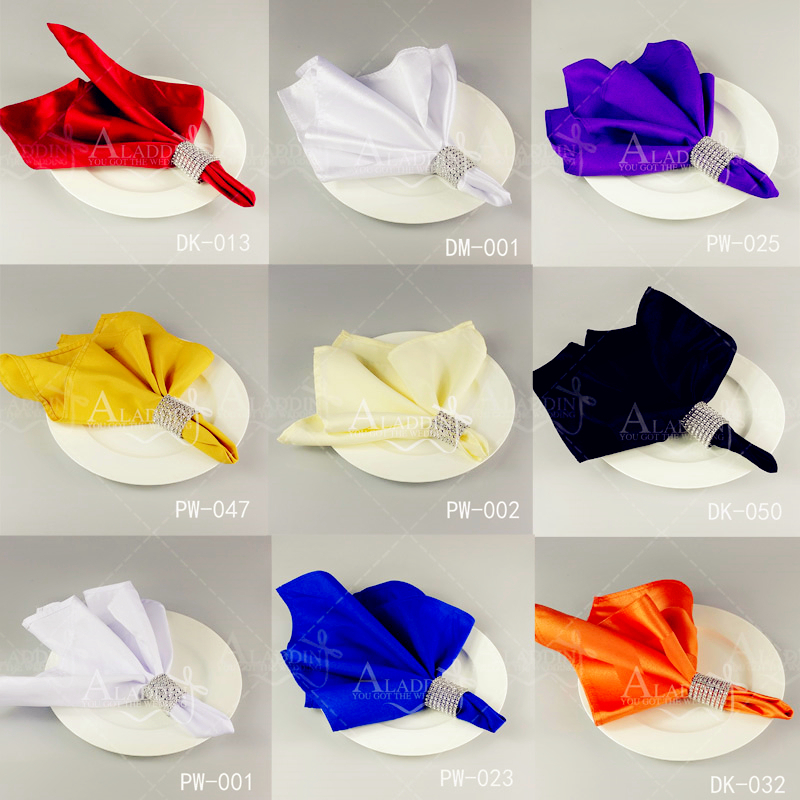 10pcs TABLE NAPKIN cloth table napkins serviette serviette tissue come with NAPKIN RING