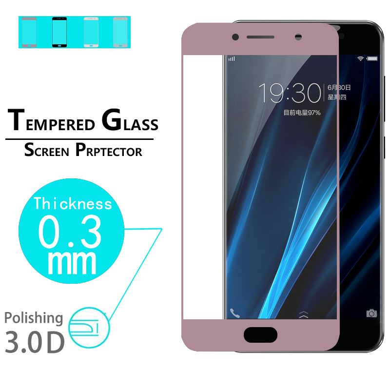 New Arrival 3D Curved Edge Tempered Glass film For Vivo X7 plus 5.7 Full Cover premium hardness Screen Protector Film +5 Colors