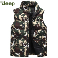 2016 Winter AFS JEEP vest young men's casual down vest thick camouflage warm comfortable men vest 3 colors M-XXXL 90