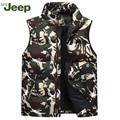 2016 Winter AFS JEEP vest young men's casual down vest thick camouflage warm comfortable men vest 3 colors M-XXXL 90
