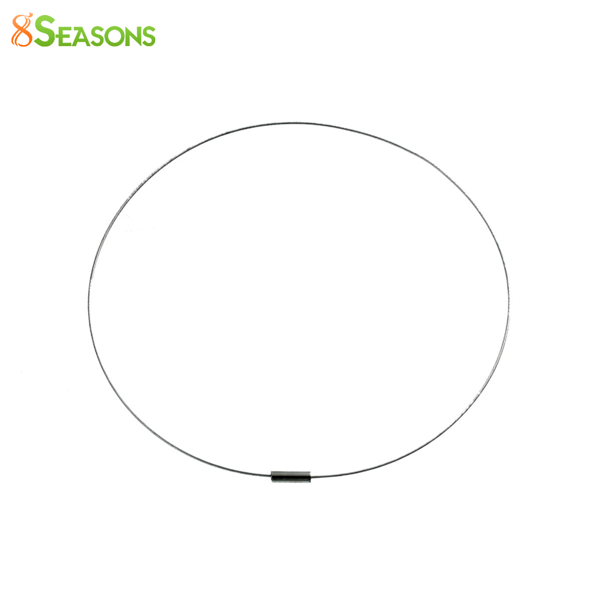 8SEASONS Copper Wire Collar Neck Necklace Silver Tone Color With Magnetic Clasp 46.5cm(18 2/8