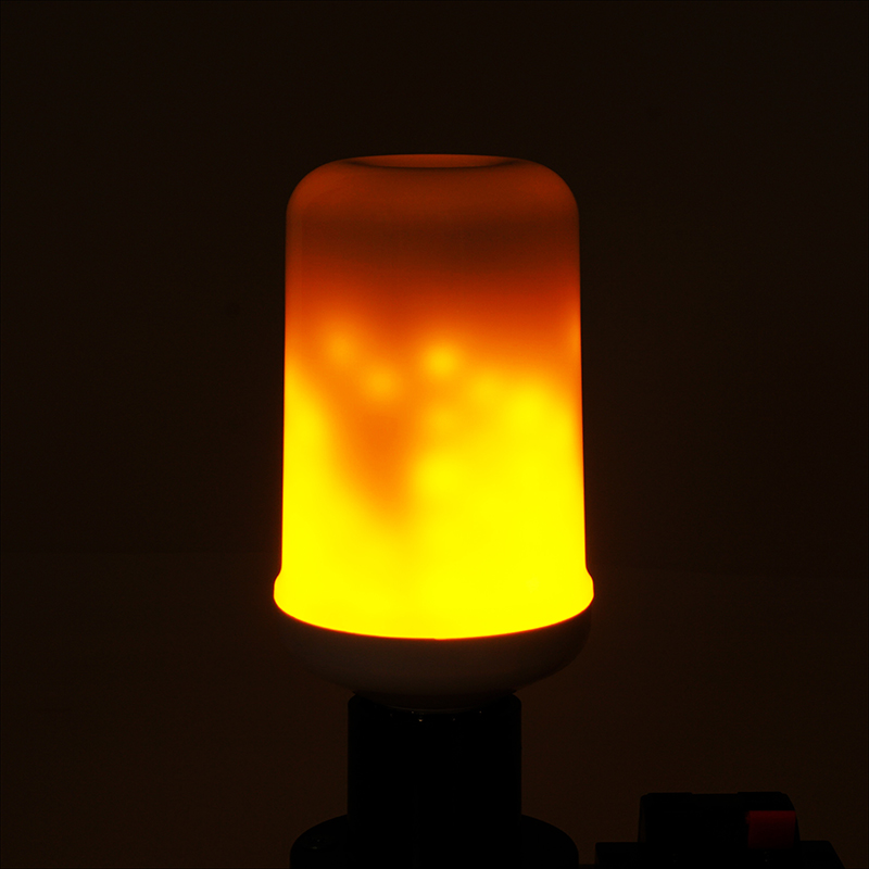 Dynamic Flame Effect LED Corn light Bulb Lamp 110V 220V E27 Simulation Fire Burning Flicker Replace Gas Lantern Decoration lamps