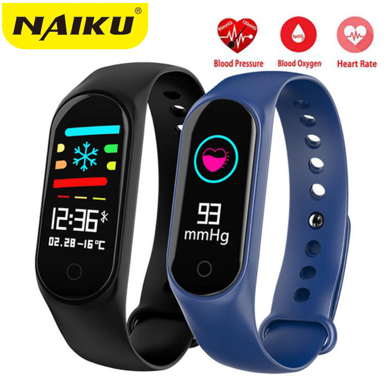 NAIKU M3Plus Smart Bracelet Color Screen Blood Pressure Fitness Tracker Heart Rate Monitor Smart Band Sport for Android IOS