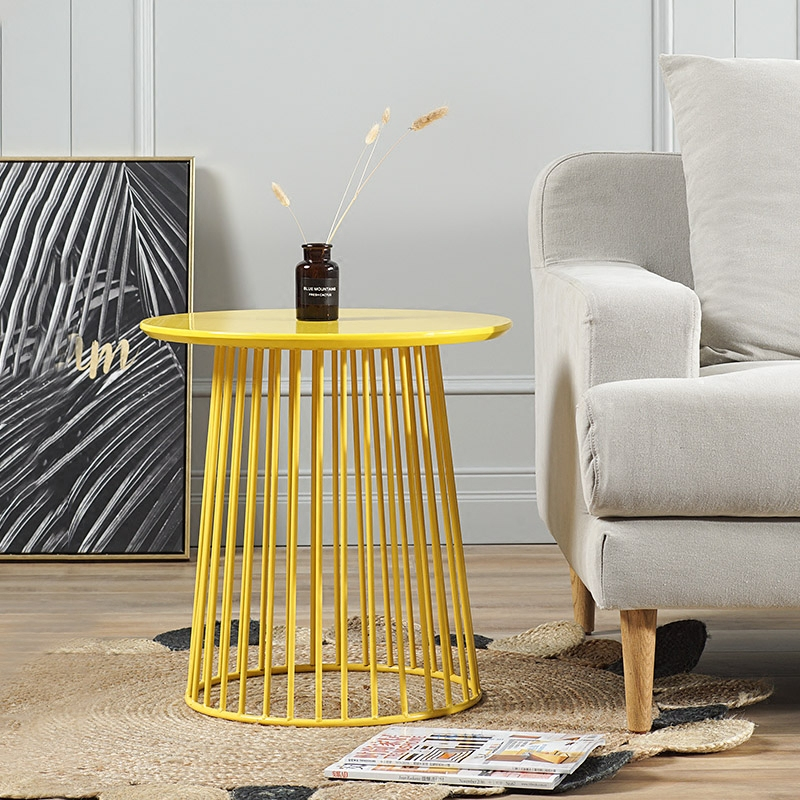 Old fashioned wire coffee table in yellow pictures schematic modern minimalism europe storage side table multifunction coffee keyboard keysfo Images