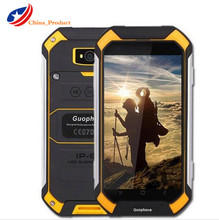 Guophone V19 Android 6.0 MTK65 8 0 Quad Core Мобильный телефон 1 ГБ Оперативная память 8 GB Встроенная память IP6 8 оригинальный Водонепроницаемый противоударный смартфон