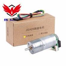 цена на JGA25-371 Deceleration Motor, High Precision Encoder, Speed Measuring, Intelligent Car Balancing Vehicle, Special 360 Line