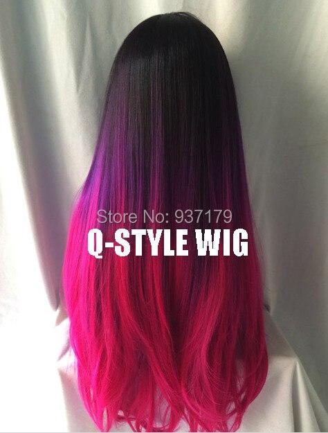 Couleur cheveux violet et rose