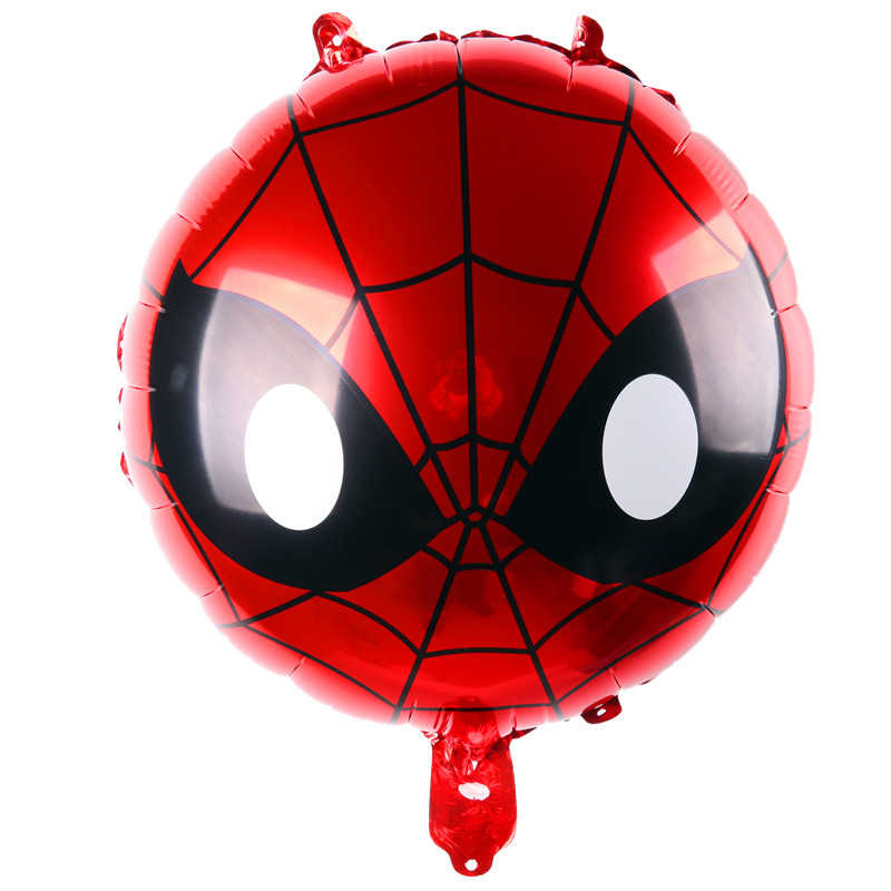 De Super-heróis vingadores Balão de alumínio Decoração Do Partido Dos Miúdos Superman Batman Homem de Ferro Hulk Capitão América Homem Aranha Balão