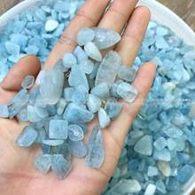 50g Natural Aquamarine Quartz Crystal Stone Rock Chips Specimen Lucky F158CL crystal love natural stones and minerals(China)