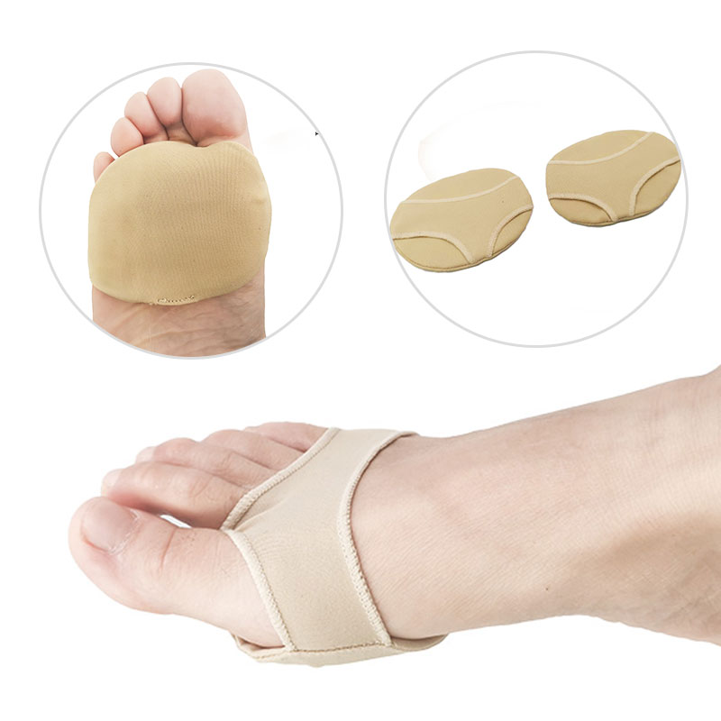Silicone Gel Half Yard Pads Insoles For Feet Comfortable For Relieve Pressure Antislip Protector Foot Pain Antalgic Massage