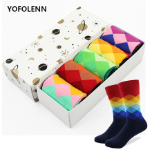 SANZETTI 12 pair/lot Novelty Men's Combed Cotton Skateboard Socks Casual socks For
