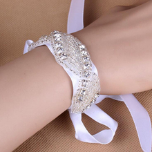 2Pcs 2017 Hot Fix Rhinestone Crystal Bracelets For Women Fashion Silver Bangles Motif Bridal Wedding Jewelry DIY ML15