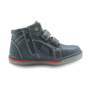 Image 2 - Apakowa Kids Shoes Boys Spring Fall Fashion High top Pu Leather Outdoor Sport Boots Childrens Comfortable Ankle Boots Eur 21 26