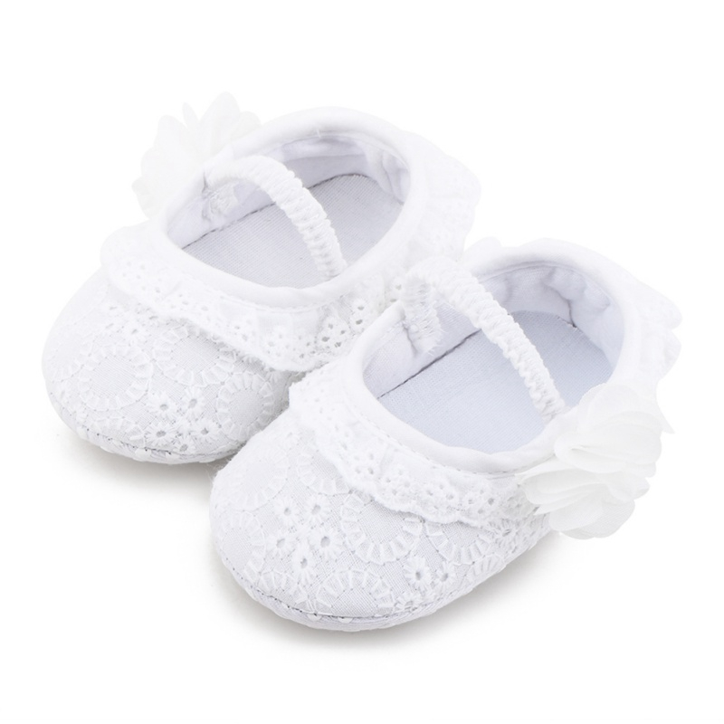 Baby Girl Shoes  Lace Anti-Slip Baby Shoes With Flower Casual Toddler Soft Soled First Walkers Wedding SHoes