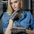 Fioretto  Winter  Womens  Genuine Goat Nappa Leather Gloves With Imported Helicoid  woman Glove Soft Horse Fur Handmade
