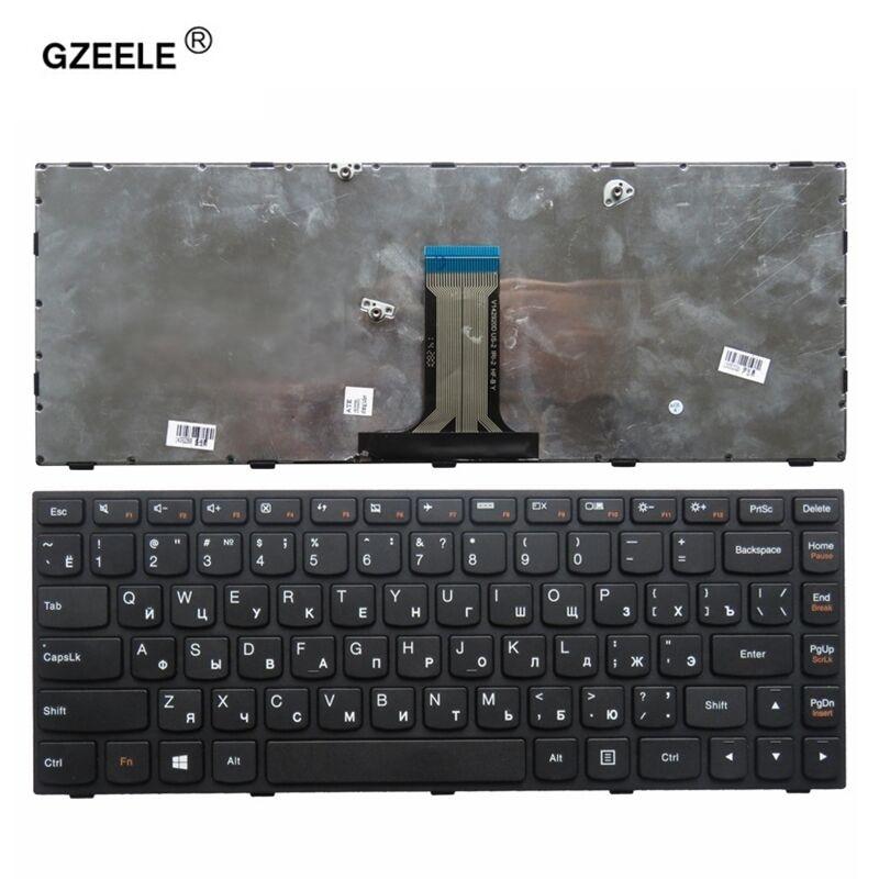 GZEELE RU Laptop Keyboard For LENOVO G40-70 B40-70 B40-30 Z40-70 G40-70m N40-70 N40-30 V1000 V3000 V1070 Flex2-14a Russian BLACK