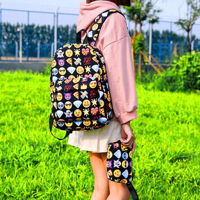 3d Cute Smile Printing Backpacks Women Teenage Girls Travel Nylon Shoulder School Bags Rucksack Hot Sale Students New Backpack #4