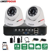 Full HD 4CH CCTV System 1080P AHD System 1080N CCTV DVR 2PCS 3000TVL IR Dome Camera