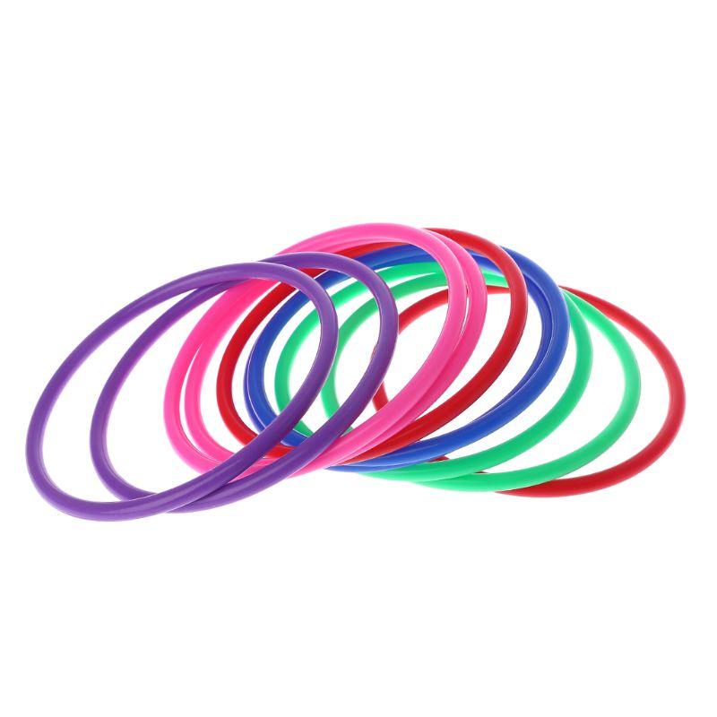 10 Pcs Plastic Toss Rings Target Throw Carnival Backyard Park Games Kids Intelligence Development Educational Exercise Toy