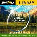 SHINU 1.56 Индекс Анти Синий Свет Объектив Компьютер Рабочий Оптический Рецепта Очков Очки Половину Обода и Полный обода SH1004