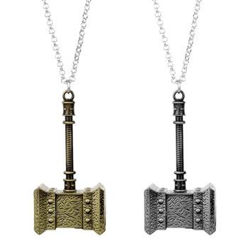 MQCHUN World of Warcraft młotek wisiorek metalowy naszyjnik Thrall Ogrim Doomhammer Charm Link Chain naszyjnik gra biżuteria