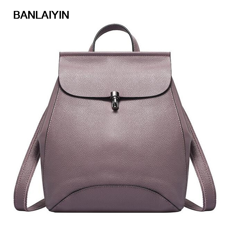 Women Backpacks Genuine Leather Bags School Bags For Students Travel Bags Shoulder Bags Backpack High Quality