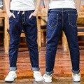 Новые мальчики свободные джинсы брюки дети Весной и Осенью длинные джинсовые брюки 6-12 год