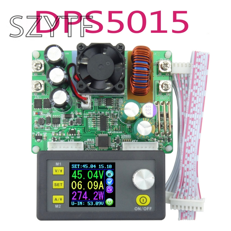 DPS5015 Power Supply Module Buck Voltage Converter Constant Voltage Current Step Down Programmable LCD Voltmeter 15A