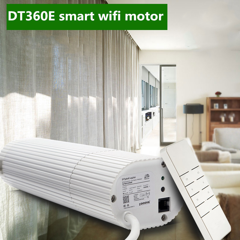 Broadlink DNA Dooya Motor Curtain Motor DT360E 45W IOS Android Remote Control Curtain For Smart Home Automation System 2018 hot sale original dooya home automation electric curtain motor dt52e 45w with remote control