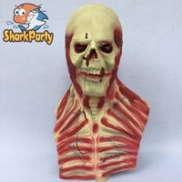 Sharkparty Scary Devil Zombie Mask Halloween Cosplay Party Horror Monster Skull Latex Fancy Skeleton Latex Costume