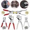 1 juego caliente 128 Uds herramienta de reparación perforadora de cuero ojales arandelas + alicates Kit rojo