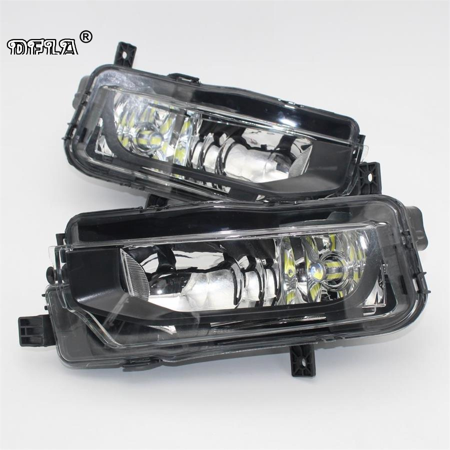 2pc For VW Transporter Multivan Caravelle T6 T7 2016 2017 2018 Car-Styling Front LED Fog Lamp Fog Light E-Mark Certificated E24 free shipping 2pc lot car styling car led lamp canbus fog lamps for vw passat 3g2