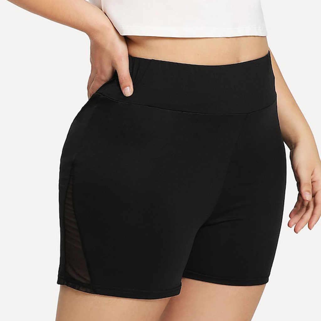 Perimedes kobiet wysokiej talii joga krótkie perspektywa Plus rozmiar krótki Sport jednolity Fitness elastyczne spodenki do biegania # g45