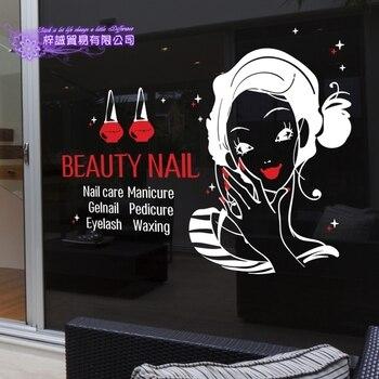 Mobilier De Salon Moderne | Autocollant D'art D'ongle Salon De Beauté Décalcomanie Magasin Entreprise Mur Art Autocollants Décalcomanie Bricolage