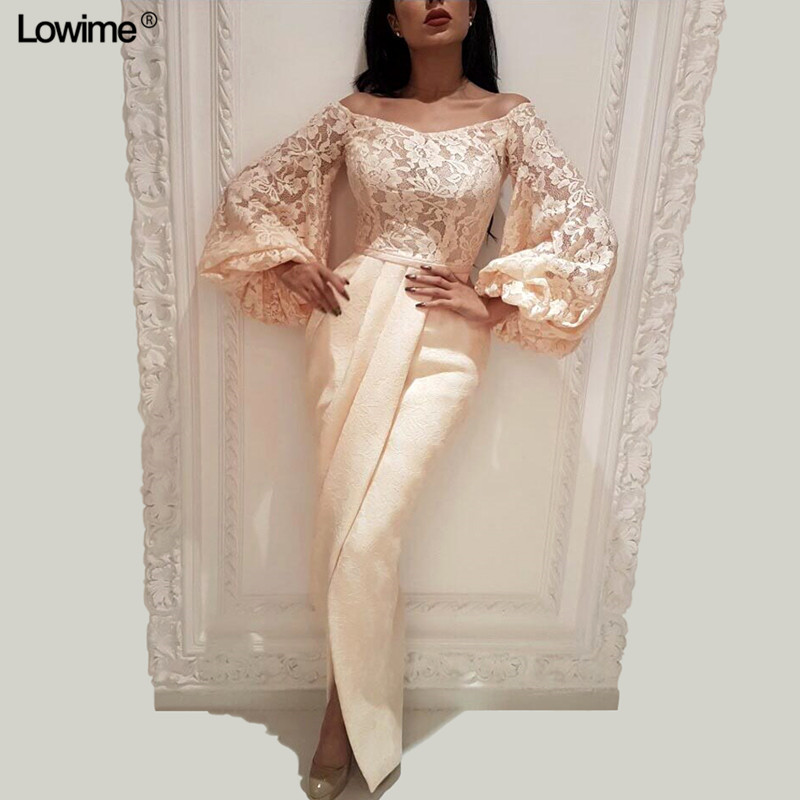 Muslim Formal Mermaid   Evening     Dresses   Women Long Bell Sleeves   Evening   Gowns 2019 Middle East Female   Dresses