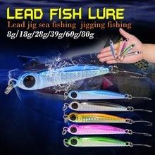 Фотография Metal Lure With Hooks 8g/18g/28g/39g/60g/80g Weihai Fishing Lure Carp Fishing Lead Baits Sea Fishing Jigging Fish